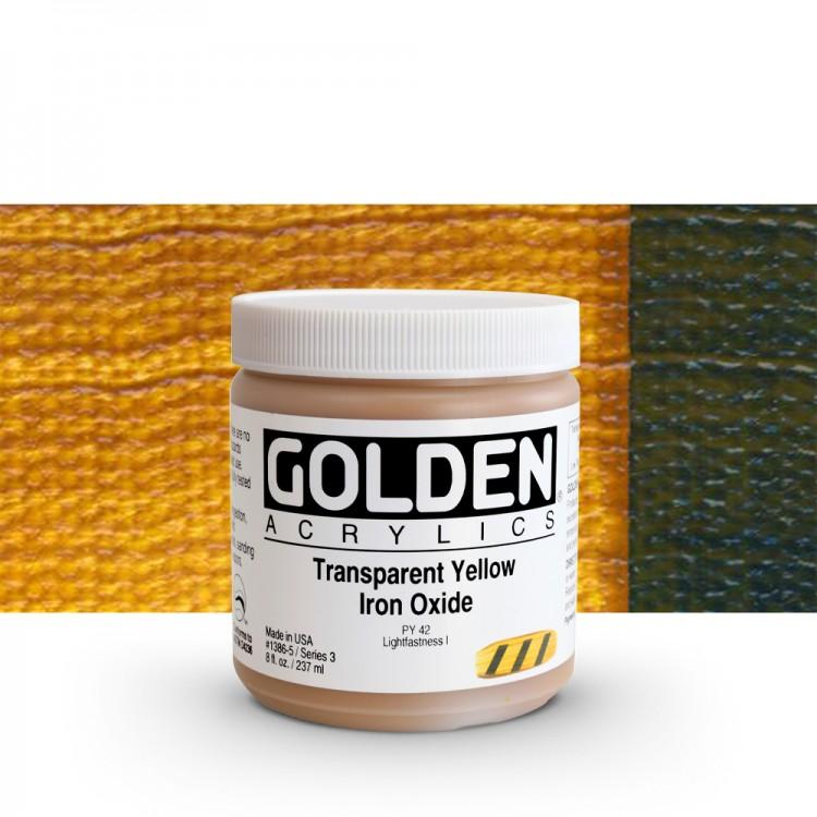 Golden : Heavy Body Acrylic Paint : 236ml : Transparent Yellow Iron Oxide