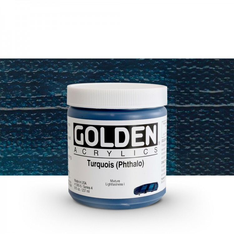 Golden : Heavy Body Acrylic Paint : 236ml : Turquoise Phthalo