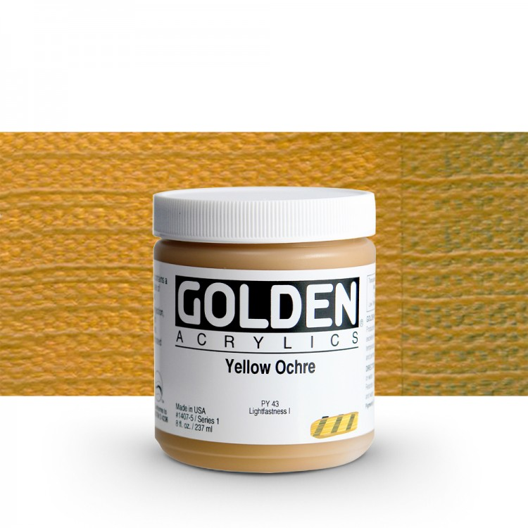 Golden : Heavy Body Acrylic Paint : 236ml : Yellow Ochre