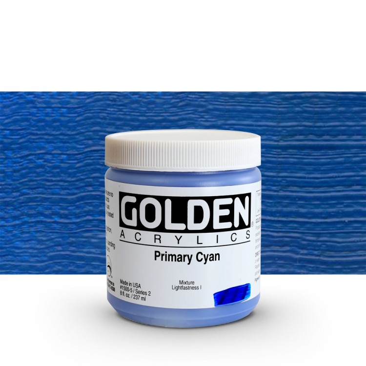 Golden : Heavy Body Acrylic Paint : 236ml : Primary Cyan