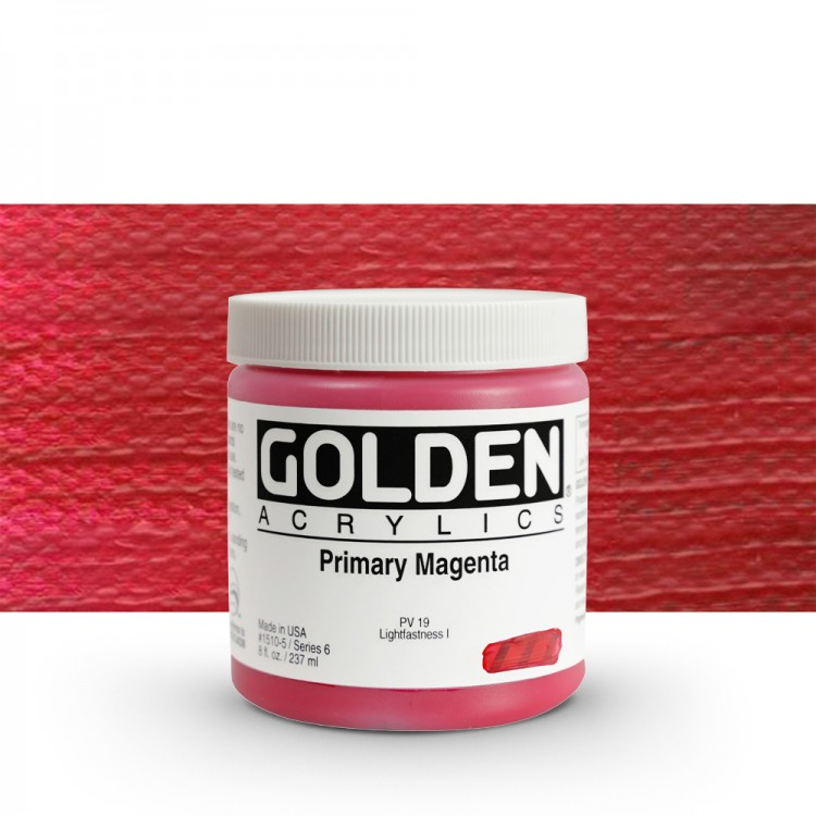 Golden : Heavy Body Acrylic Paint : 236ml : Primary Magenta