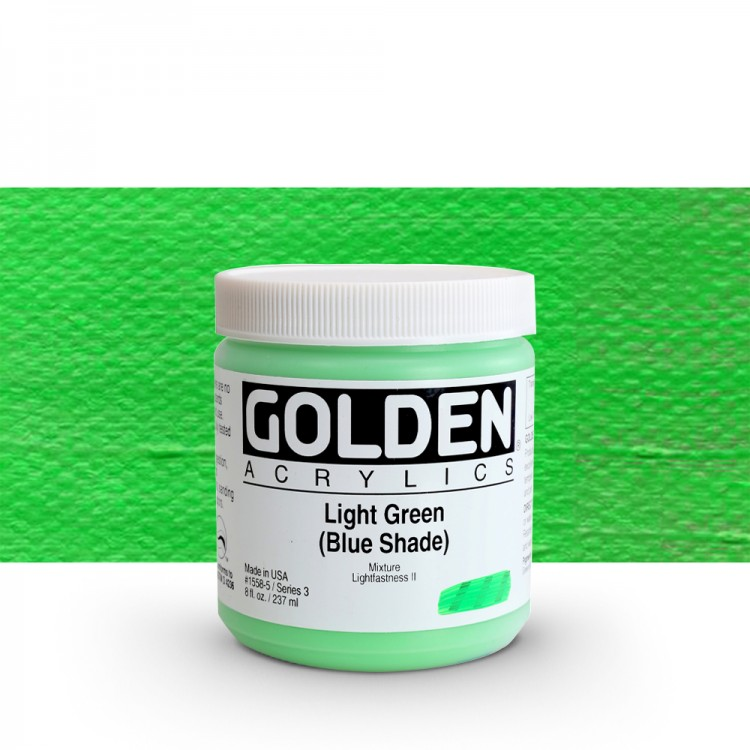 Golden : Heavy Body Acrylic Paint : 236ml : Light Green Blue Shade