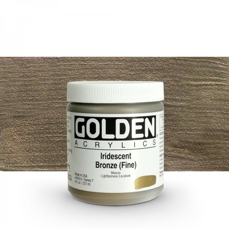 Golden : Heavy Body Acrylic Paint : 236ml : Bronze Fine Iridescent