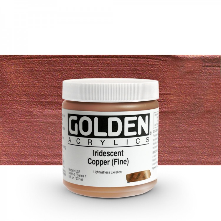 Golden : Heavy Body Acrylic Paint : 236ml : Copper Fine Iridescent