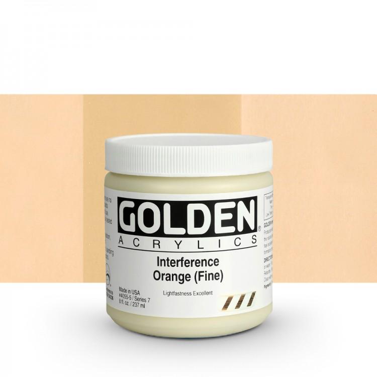 Golden : Heavy Body Acrylic Paint : 236ml : Orange Fine Interference