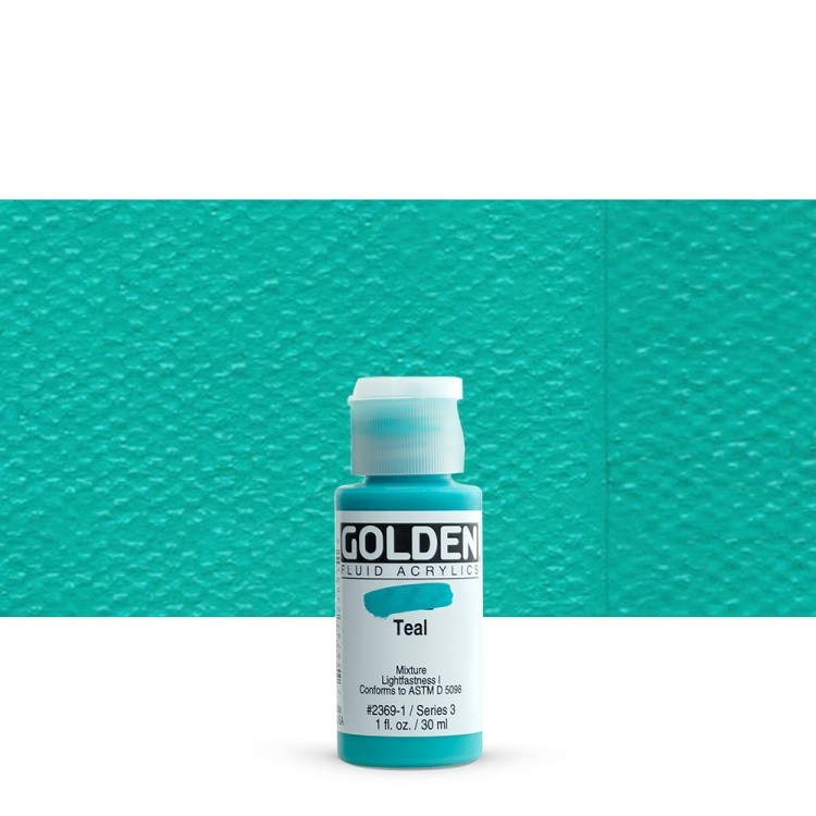 Golden : Fluid : Acrylic Paint : 30ml (1oz) : Teal III