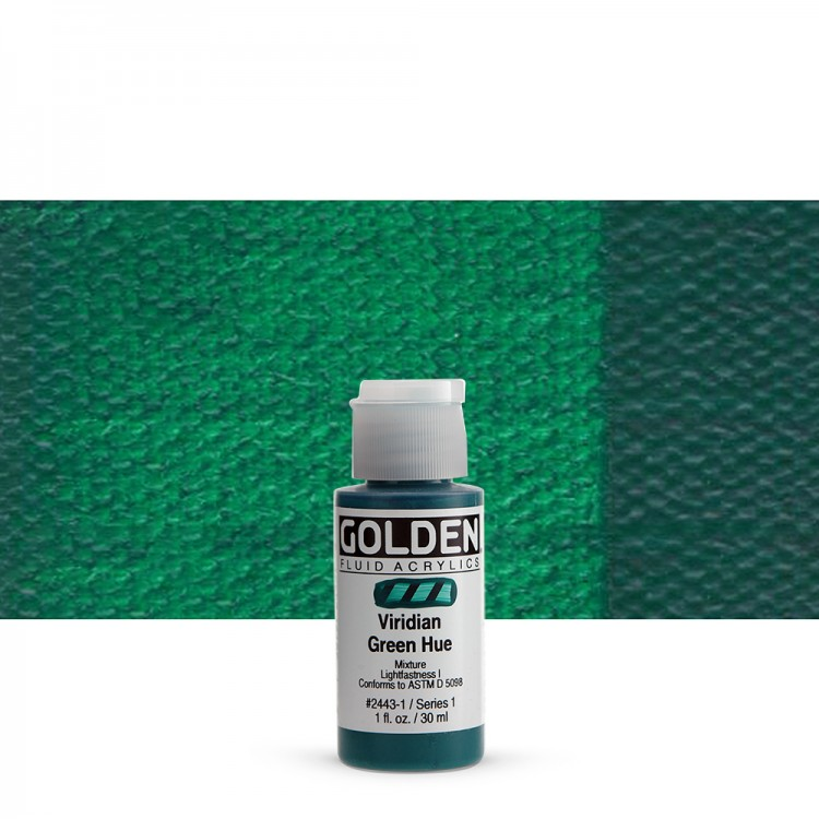 Golden : Fluid Acrylic Paint : Fluid : 30ml : Viridian Green Hue