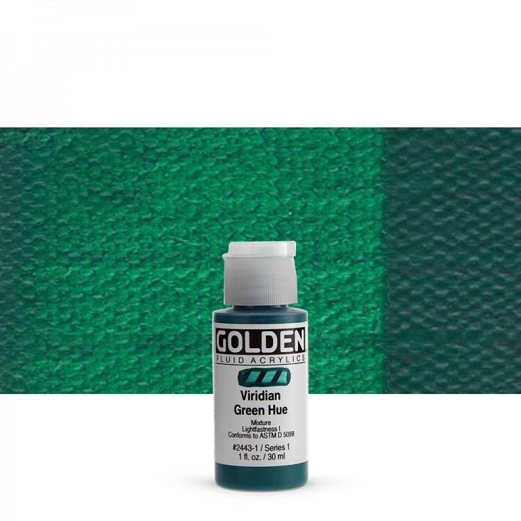 Golden : Fluid Acrylic Paint : Fluid : 30ml : Viridian Green Hue