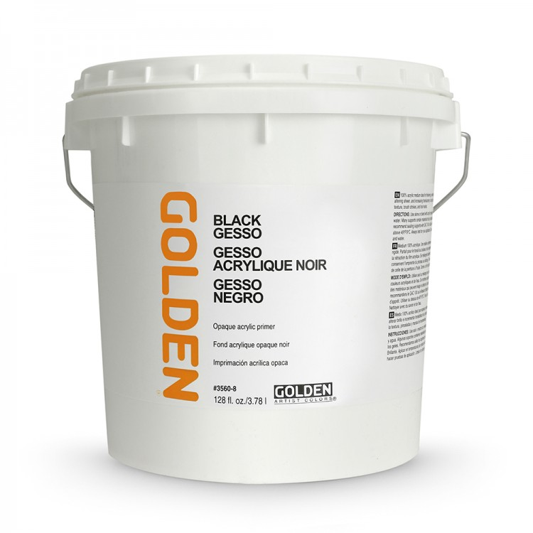 Golden : Black Gesso : 3780ml