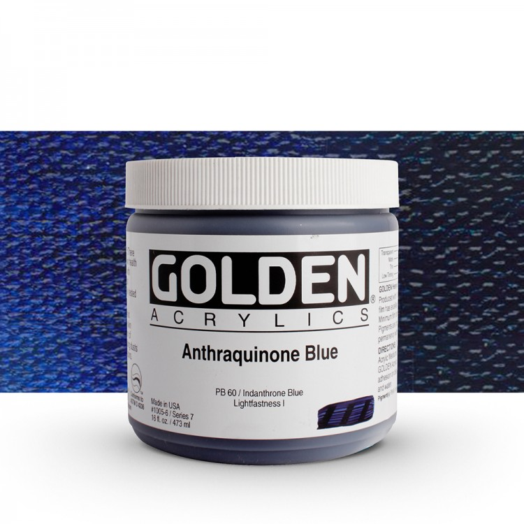 Golden : Heavy Body Acrylic Paint : 473ml : Anthraquinone Blue