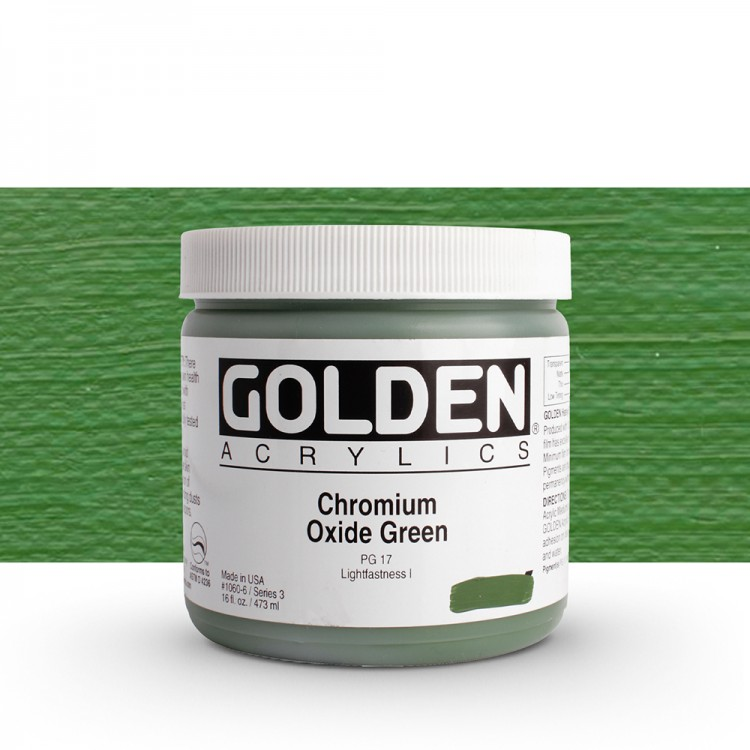 Golden : Heavy Body Acrylic Paint : 473ml : Chromium Oxide Green