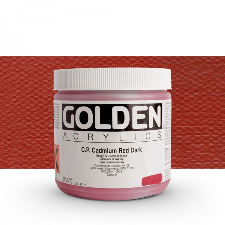 Golden : Heavy Body Acrylic Paint : 473ml : Pure Cadmium Red Dark