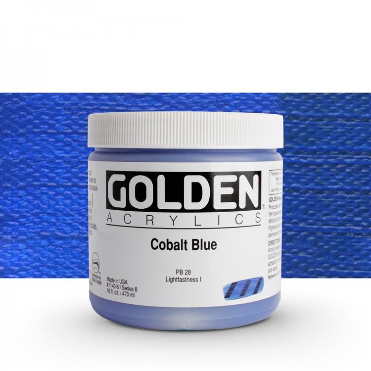 Golden : Heavy Body Acrylic Paint : 473ml : Cobalt Blue