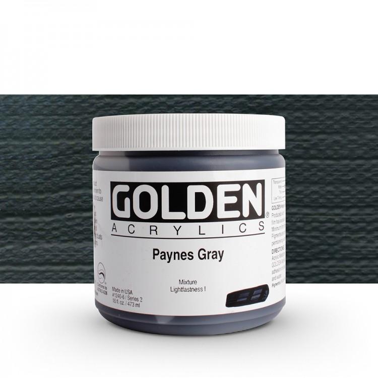 Golden : Heavy Body Acrylic Paint : 473ml : Paynes Grey