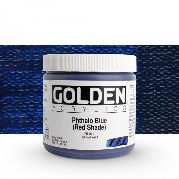 Golden : Heavy Body Acrylic Paint : 473ml : Phthalo Blue Red Shade