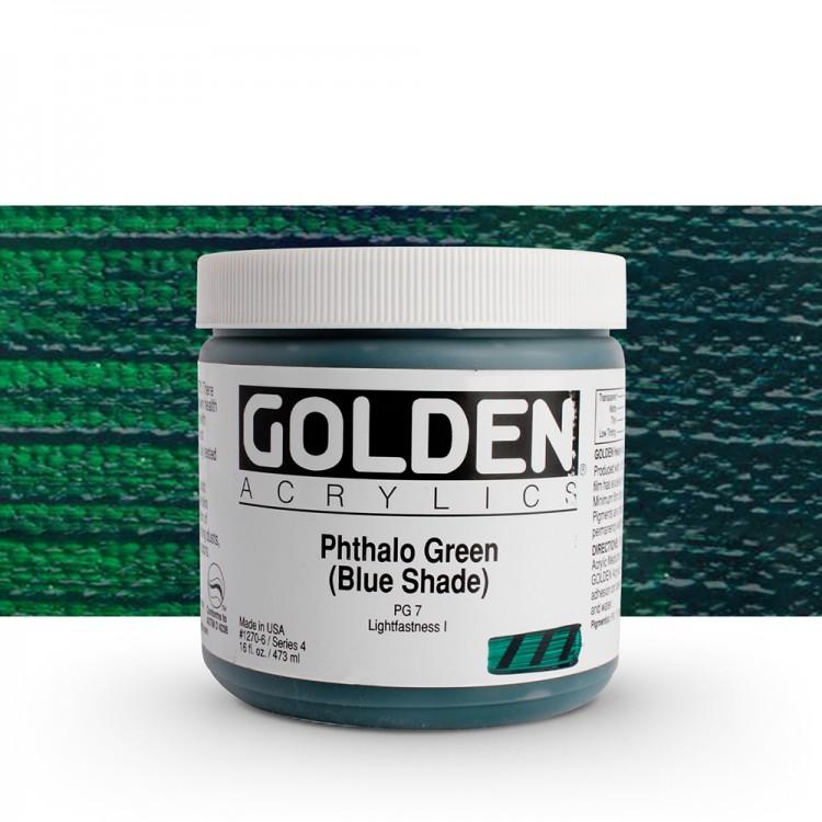 Golden : Heavy Body Acrylic Paint : 473ml : Phthalo Green Blue Shade