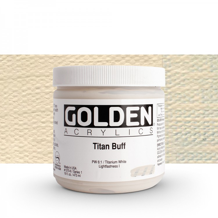 Golden : Heavy Body Acrylic Paint : 473ml : Titan Buff