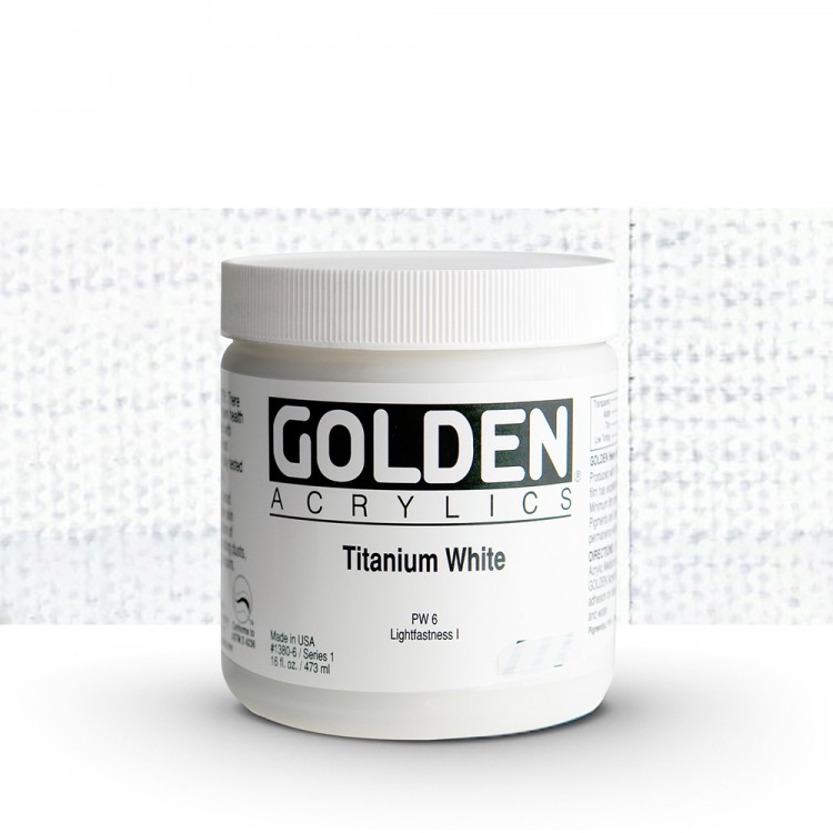 Golden : Heavy Body Acrylic Paint : 473ml : Titanium White