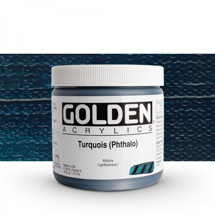 Golden : Heavy Body Acrylic Paint : 473ml : Turquoise Phthalo