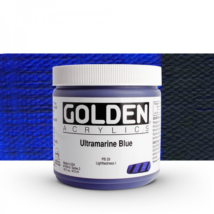 Golden : Heavy Body Acrylic Paint : 473ml : Ultramarine Blue