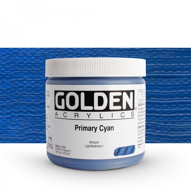 Golden : Heavy Body : Acrylic Paint : 473ml : Primary Cyan