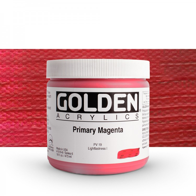 Golden : Heavy Body Acrylic Paint : 473ml : Primary Magenta