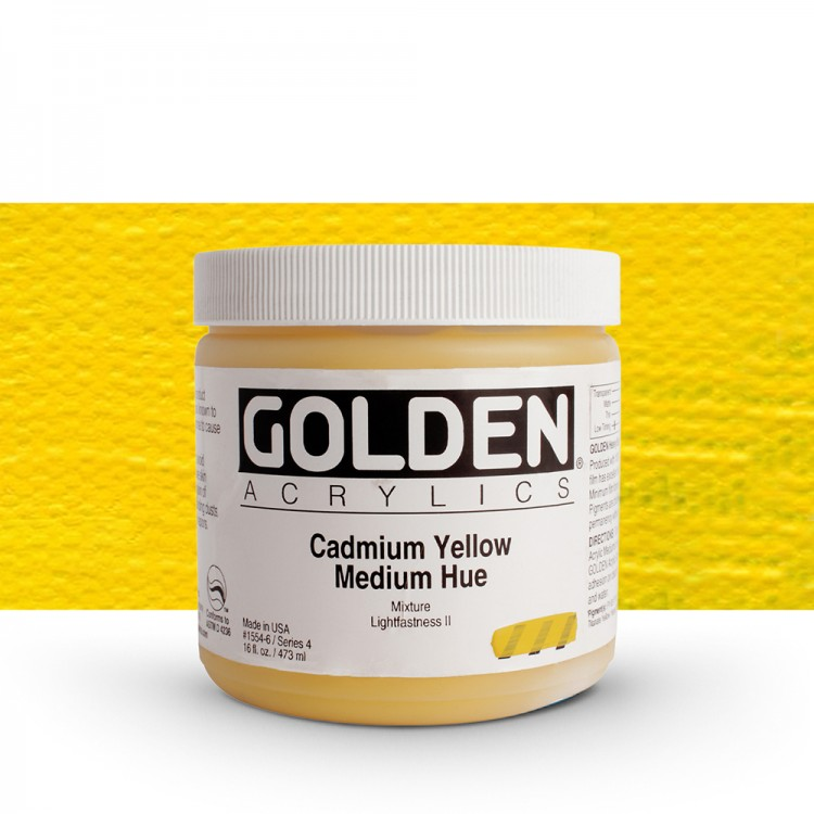 Golden : Heavy Body Acrylic Paint : 473ml : Cad Yellow Medium Hue
