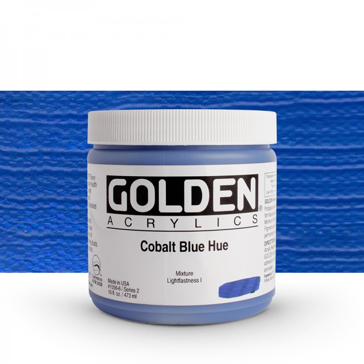 Golden : Heavy Body Acrylic Paint : 473ml : Cobalt Blue Hue