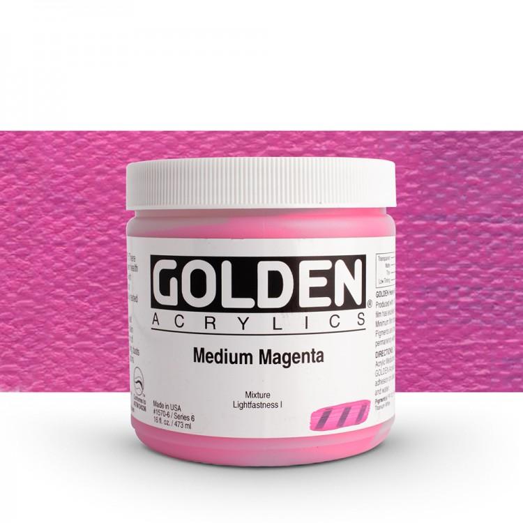 Golden : Heavy Body Acrylic Paint : 473ml : Medium Magenta
