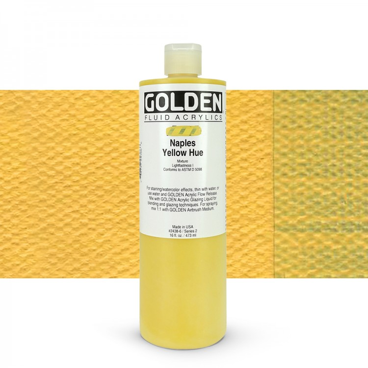 Golden : Fluid Acrylic Paint : 473ml (16oz) : Naples Yellow Hue