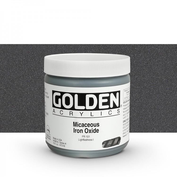 Golden : Heavy Body Acrylic Paint : 473ml : Micaceous Iron Oxide