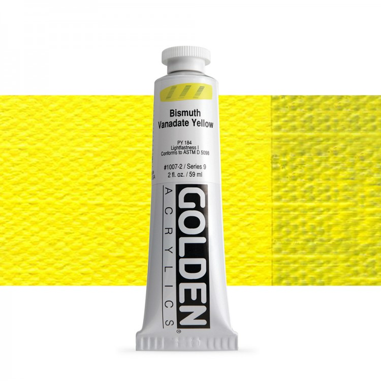 Golden : Heavy Body : Acrylic Paint : 60ml : Bismuth Vanadate Yellow Ix New