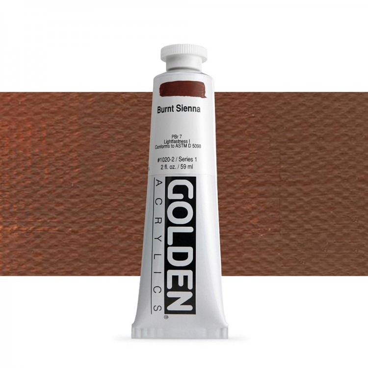 Golden : Heavy Body Acrylic Paint : 60ml : Burnt Sienna