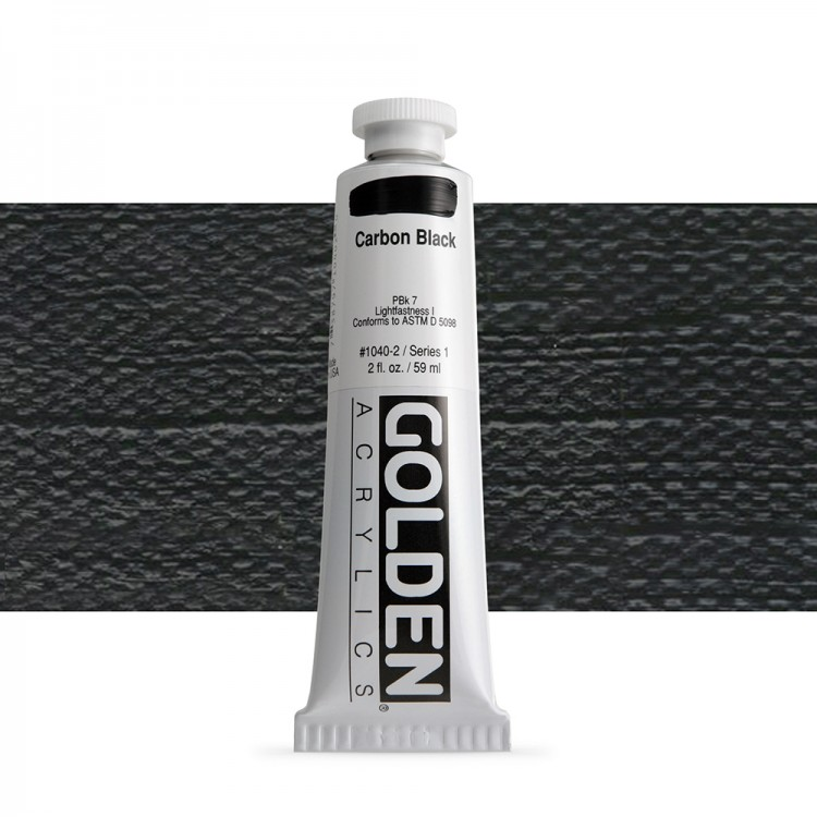 Golden : Heavy Body Acrylic Paint : 60ml : Carbon Black