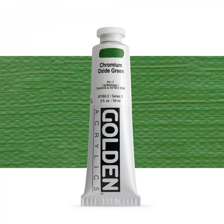 Golden : Heavy Body Acrylic Paint : 60ml : Chromium Oxide Green