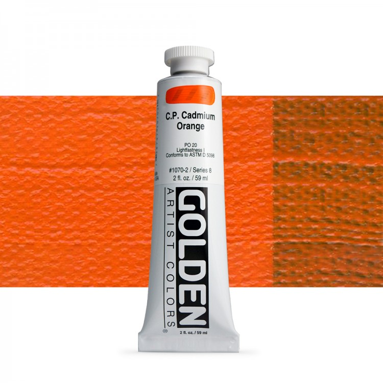 Golden : Heavy Body Acrylic Paint : 60ml : Pure Cadmium Orange