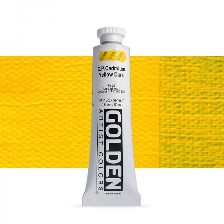 Golden : Heavy Body Acrylic Paint : 60ml : Pure Cadmium Yellow Dark