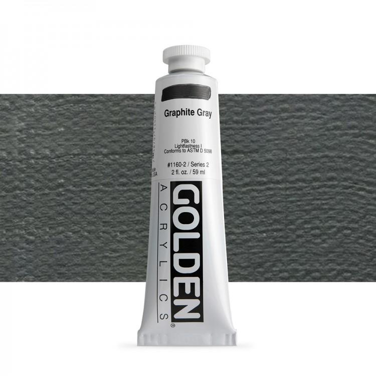 Golden : Heavy Body Acrylic Paint : 60ml : Graphite Grey