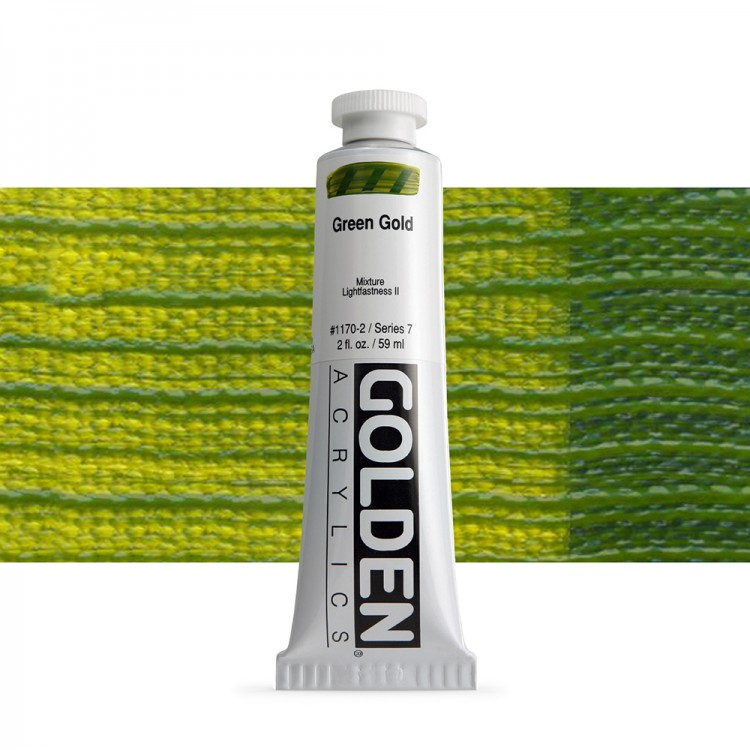 Golden : Heavy Body Acrylic Paint : 60ml : Green Gold