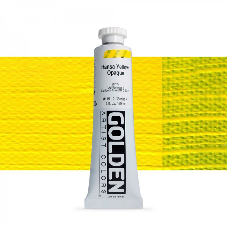 Golden : Heavy Body Acrylic Paint : 60ml : Hansa Yellow Opaque