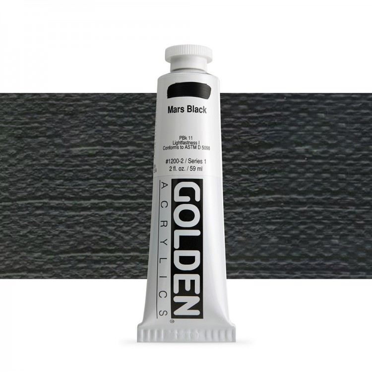 Golden : Heavy Body Acrylic Paint : 60ml : Mars Black