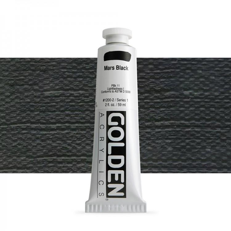 Golden : Heavy Body Acrylic Paint : 60ml : Mars Black