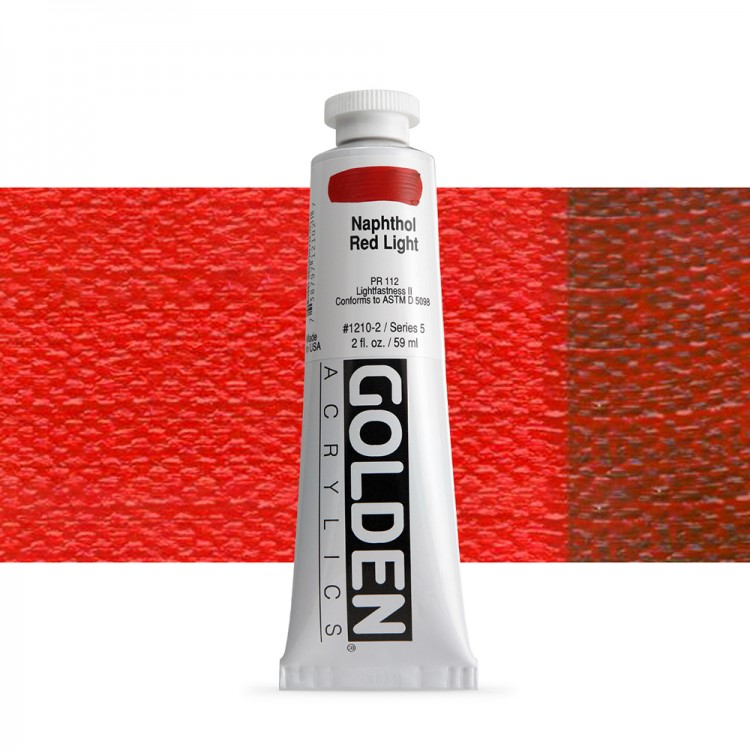 Golden : Heavy Body Acrylic Paint : 60ml : Naphthol Red Light