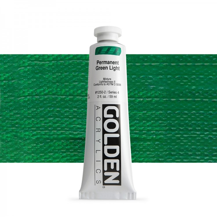 Golden : Heavy Body Acrylic Paint : 60ml : Perm Green Light