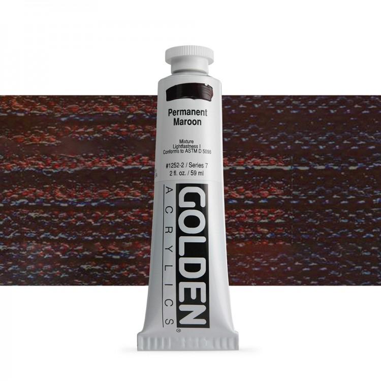 Golden : Heavy Body Acrylic Paint : 60ml : Permanent Maroon Vii New