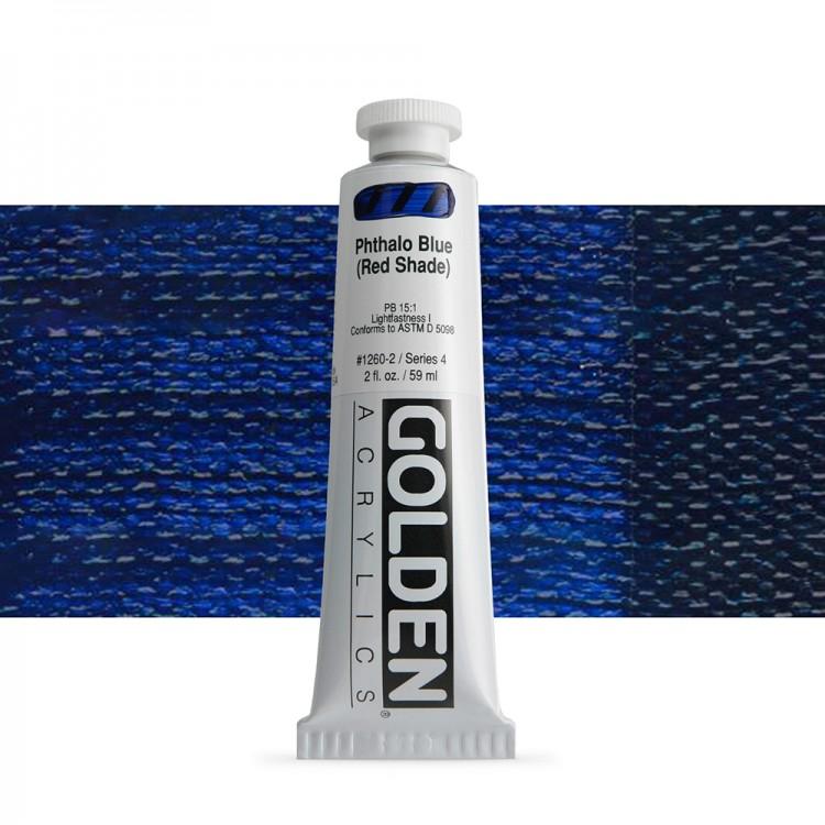 Golden : Heavy Body Acrylic Paint : 60ml : Phthalo Blue Red Shade