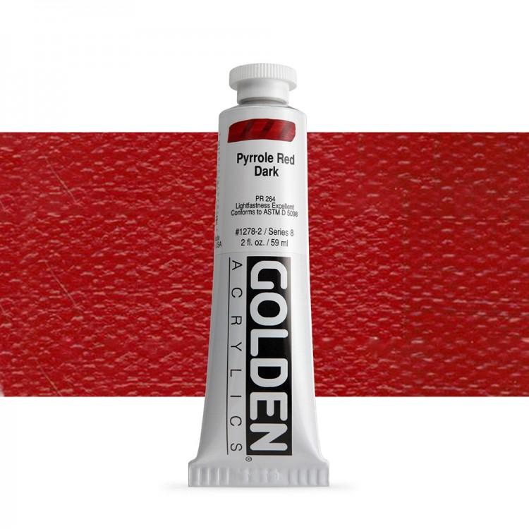 Golden : Heavy Body Acrylic Paint : 60ml : Pyrrole Red Dark Viii New