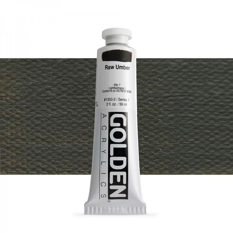 Golden : Heavy Body Acrylic Paint : 60ml : Raw Umber