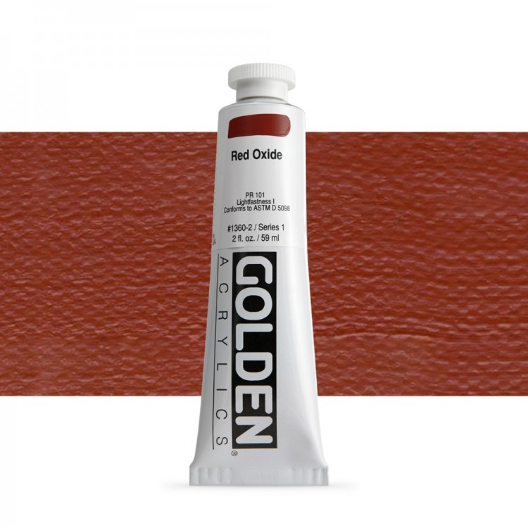 Golden : Heavy Body Acrylic Paint : 60ml : Red Oxide