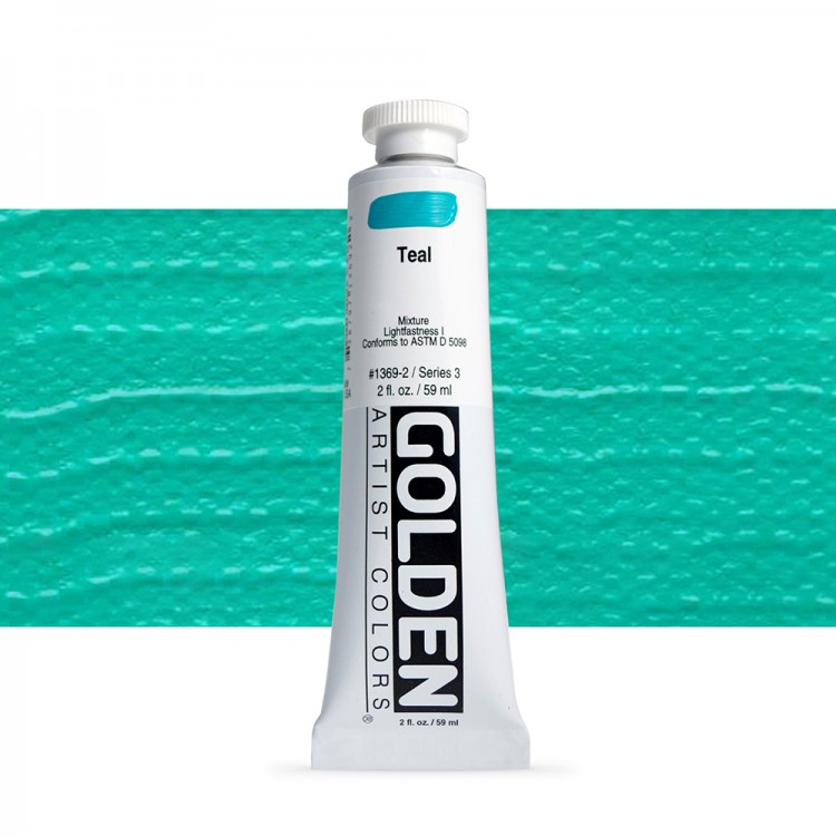 Golden : Heavy Body Acrylic Paint : 60ml : Teal